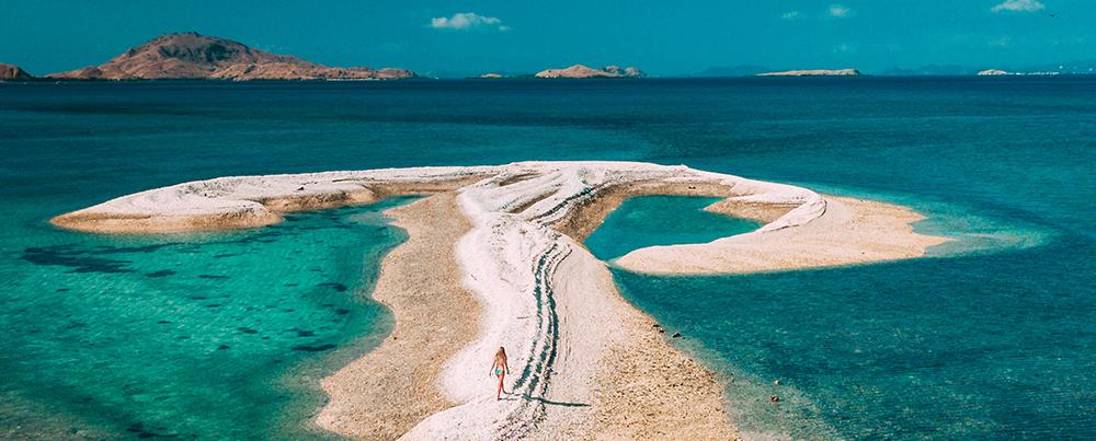 Strolling in the beach island
