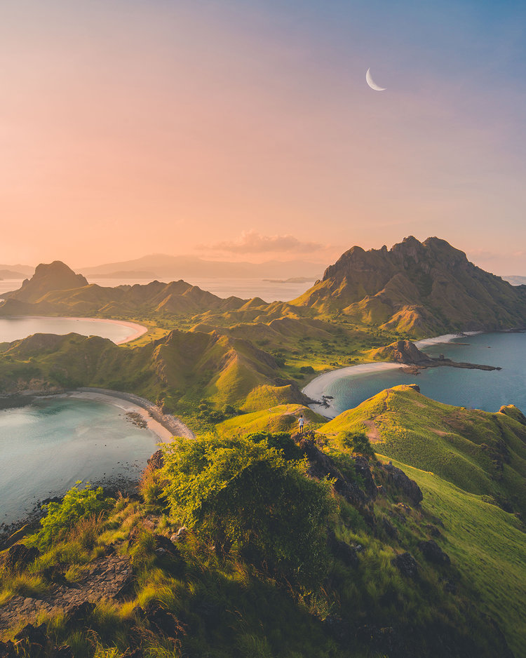 Evening view from Padar Island