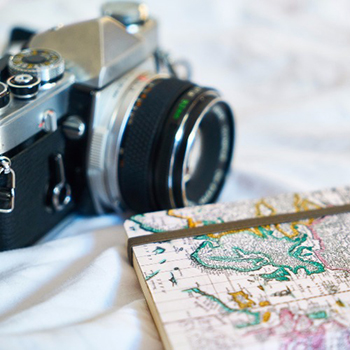 A camera with a map