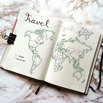A notebook for traveling