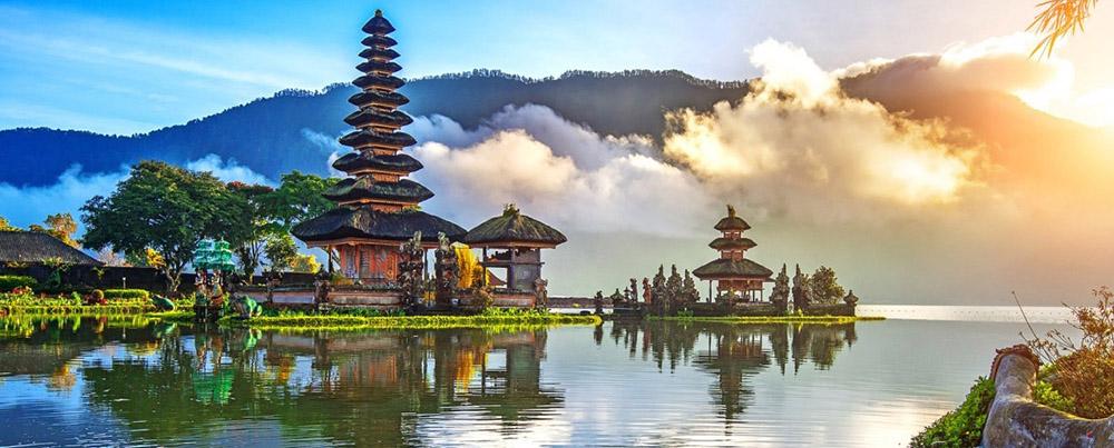 A panoramic view of Pura in Bali
