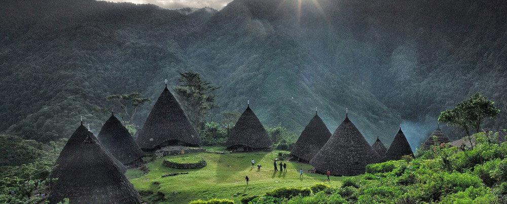 The Wae Rebo village up in the mountain