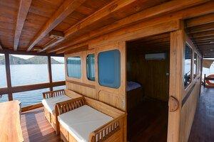 deck to enjoy sunrise and sunset - adishree liveaboard