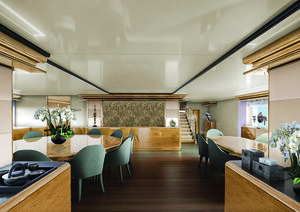 Great place for eating in Aqua Blu liveaboard dining room