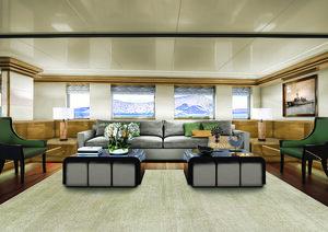 A comfortable lounge area inside Aqua Blu liveaboard