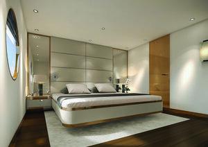 Aqua Blu liveaboard provides an elegant main bedroom