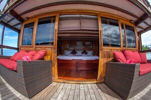 Damai I liveaboard provide a couches outside the cabin