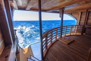 The stern deck of Helena liveaboard