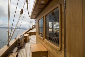The portside of Leyla liveaboard is perfect for observing the landscape