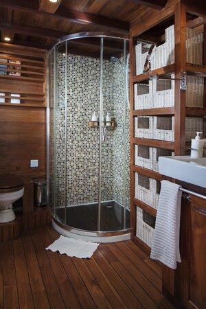 Comfortable lavatory in samata liveaboard