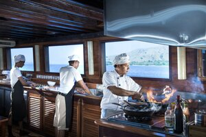 Professional chefs offer amazing culinary experiences on board