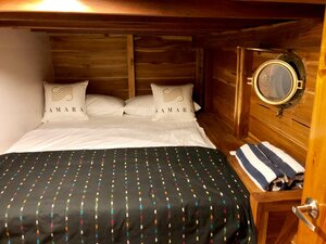 The bedroom in Samara II liveaboard for guests with great facilities