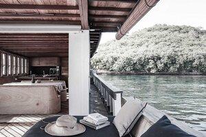 Enjoying a nice coffee on the deck of Splendour liveaboard