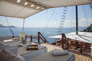 Pleasant area to enjoy the view from Samata liveaboard deck