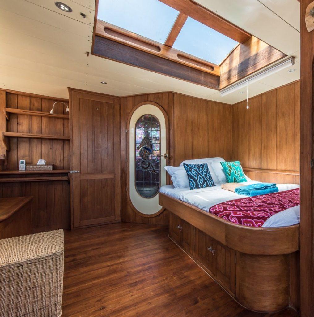 The guest cabin on Carpe Diem liveaboard