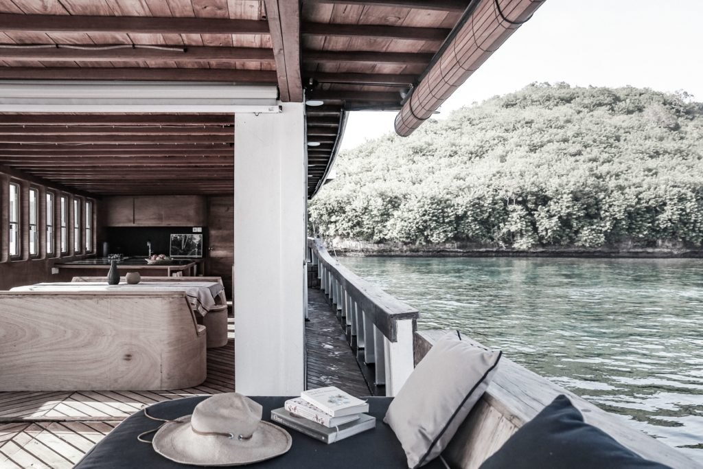 The comfortable deck area for guest in Splendour liveaboard