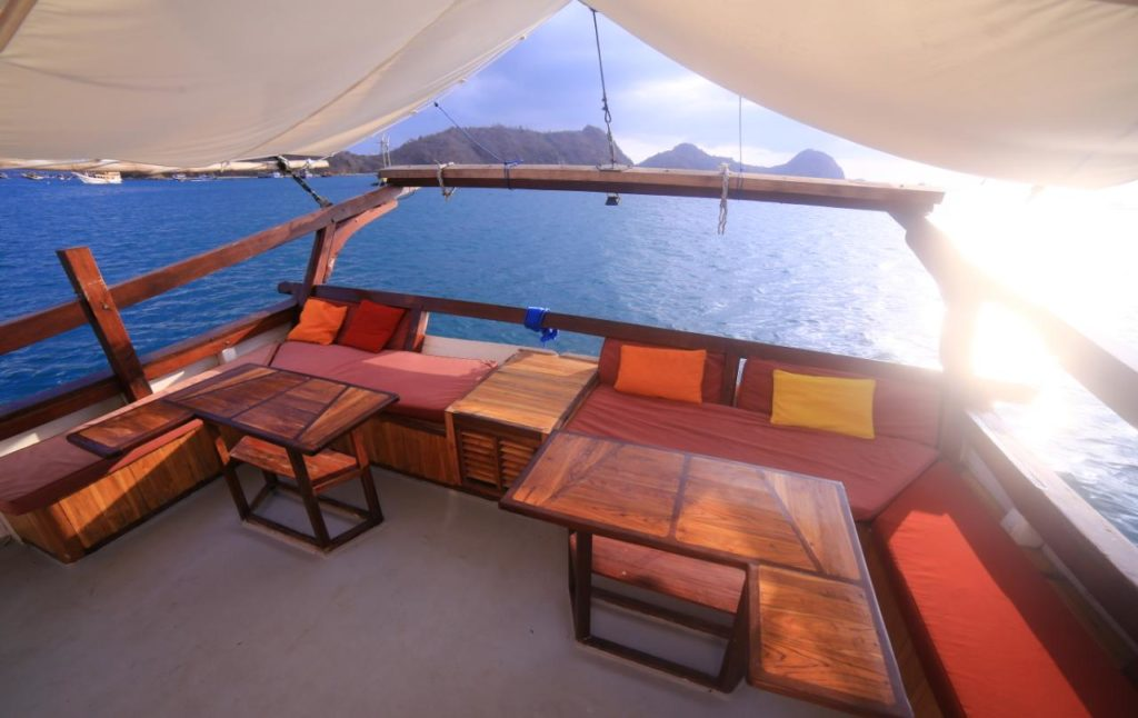 The upper deck in Sinar Pagi to enjoy the scenery
