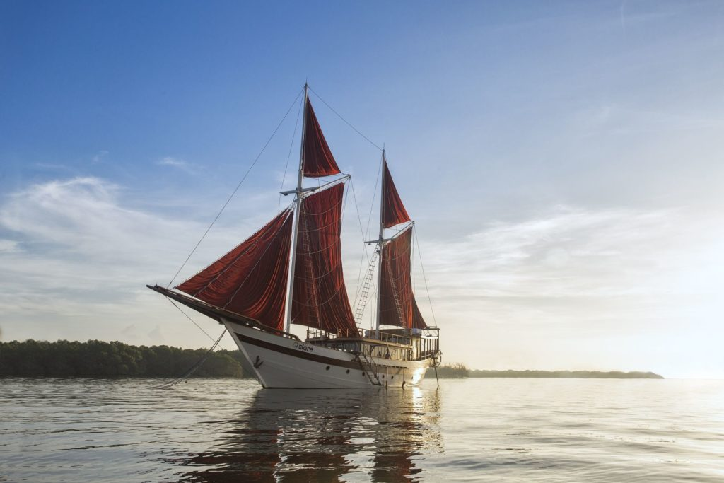 Tiare, one of the modern Phinisi as a liveaboard