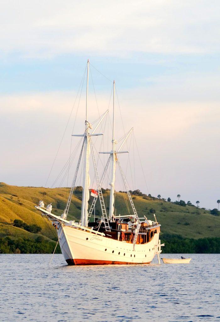 A liveaboard ship touring around Komodo