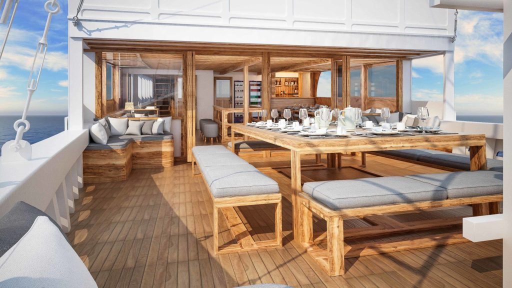 Enjoy the scenery while dinner at Aliikai liveaboard | Hello Flores