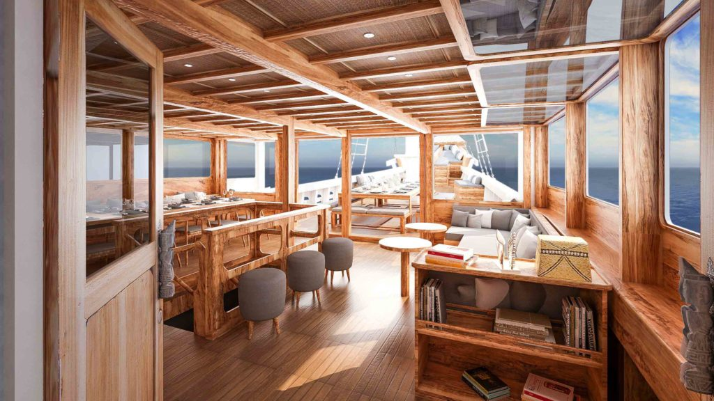 a comfort lounge to enjoy your journey with Alikai liveaboard