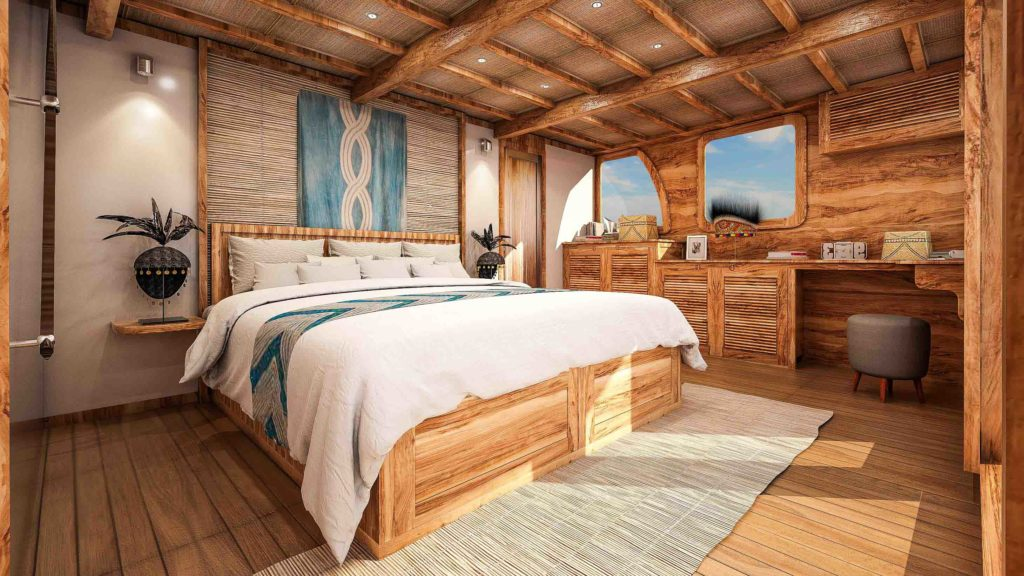 A comfort master cabin with remarkable view - Aliikai liveaboard | Hello Flores